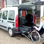 Fahrzeugumbau: im Heckbereich das Fahrzeug ausgeschnitten