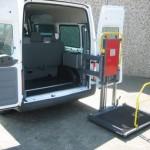 Kassettenlift K150 ist der optimale Lift für den freien Zugang zum Fahrgastraum