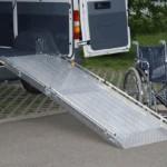 Aluminium Rollstuhlrampe zum Einbau in Heck- oder Seitentür