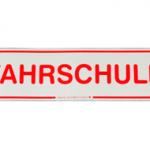 Fahrschule Magnetschild 35 X 8 cm