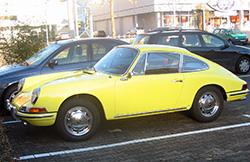 Porsche 912 in gelb